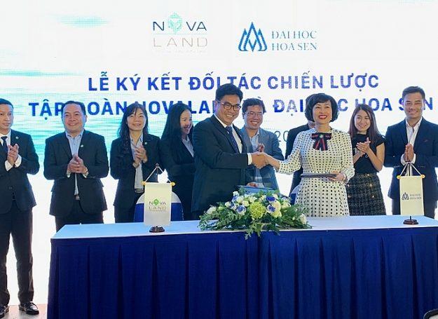 Sự kiện công ty NovaLand hợp tác chiến lược với đại học Hoa Sen